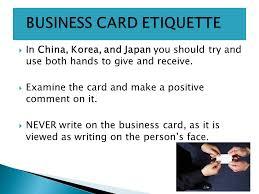 Japan Business Card Etiquette Global Business Week 4 Office Etiquette Ppt Video Online Download