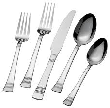 Proper Table Setting Silverware Amazon Com International Silver Kensington 51 Piece Stainless Steel