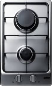 Two Burner Gas Cooktop Propane Summit Gc22ss 12 Inch Gas Cooktop With 2 Sealed Sabaf Burners