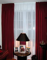 Maroon Curtains For Living Room Ideas Living Room Cool Living Room Decoration With Maroon And Sheer