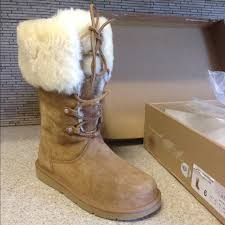 ugg shoes australia brown boots poshmark 68 ugg boots authentic ugg australia lace up boots w fur