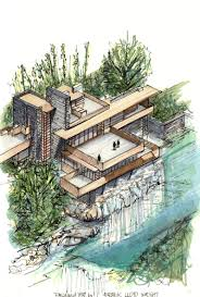 fallingwater house gallery of 20 beautiful axonometric drawings of iconic buildings 9