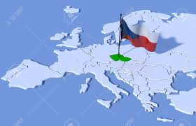 Chez Republic Flag 3d Map Europe Czech Republic Flag Stock Photo Picture And Royalty