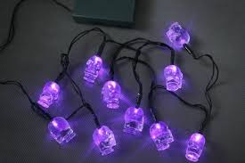 halloween purple led string lights 10 halloween skull fairy lights with purple led battery operated