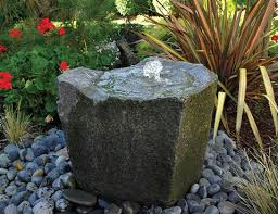 Rock Fountains For Garden Bubbling Rocks Blue Thumb