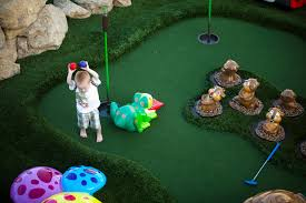 backyard golf game home outdoor decoration