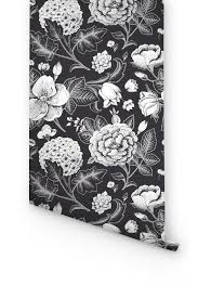 garden rose u0026 hydrangea flower removable wallpaper a multitude of