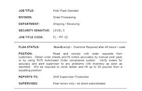 job description example soap format