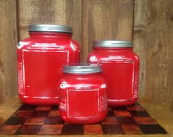 red canister set etsy