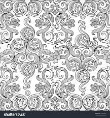 vector seamless background victorian style traditional stock