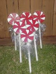huge christmas lollipops for the yard paper plates pvc pipe and