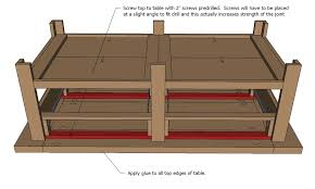 Woodworking Plans Display Coffee Table by Ana White Benchright Coffee Table Diy Projects