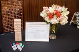 bridal shower guestbook showers photos jenga guest book inside weddings