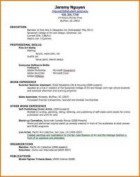 Sample Resume Undergraduate by Examples Of Resumes Traditional Resume Samples Templat Simple