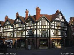 photograph of tudor buildings leek staffordshire