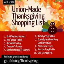here s your union made in america thanksgiving shopping list the