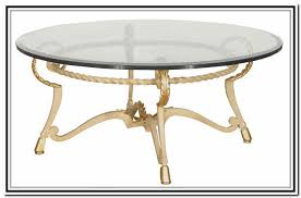 Metal Glass Coffee Table Round Glass Coffee Table Metal Base Home Design Ideas