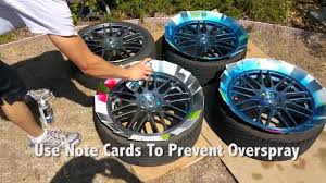 how to paint your car wheels with rustoleum peel coat youtube