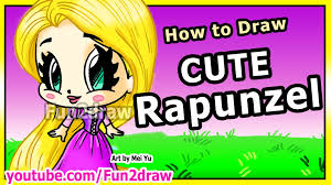 draw disney princesses u0026 characters rapunzel tangled