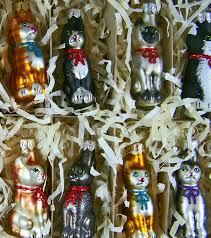 mib calico kittens 10 dif blown mercury glass kitty cat ornaments