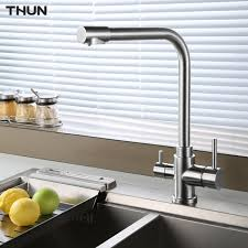 three kitchen faucets thun water filter taps kitchen faucets 304 stainless steel