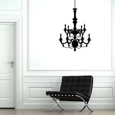 Chandelier Wall Decal Contemporary Chandelier Wall Stickers By Parkins Interiors