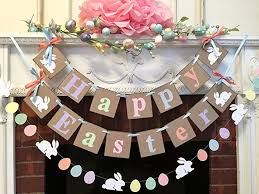 happy easter decorations country easter decorations bc happy easter mantle or