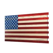 Red White Flag Dual Compartment Gun Concealment American Flag Cabinet Small Red