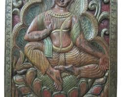 vastuinteriors budha wall hanging carved wood wall