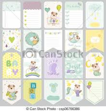 Baby Dog Tags Vector Of Baby Dog Tags Baby Banners Scrapbook Labels Cute