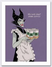 Sleeping Beauty Meme - disney maleficent sleeping beauty villain coffee