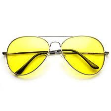 mens light tint sunglasses retro metal aviator sunglasses yellow driving lens zerouv