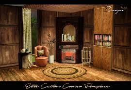 elite custom corner indoor outdoor fireplace new mesh sims 4