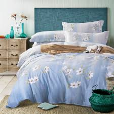 Blue And White Comforters Popular White And Blue Flower Comforter Buy Cheap White And Blue