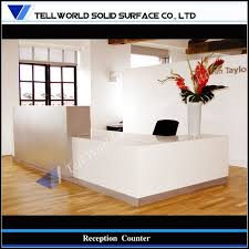 White Acrylic Desk by Reception Desk Tell World Solid Surface Co Ltd Page 3