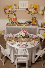 bridal shower table decorations pineapple themed bridal shower