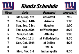 new printable giants schedule nyg nygiants 2014 nfl schedules