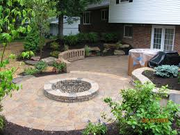 Patio And Firepit B T Klein S Landscaping Solution Center Before After