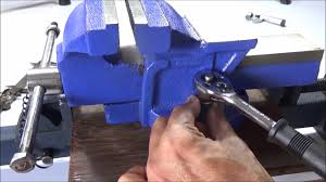 how to install a bench vise youtube