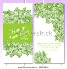 All About Flowers - vintage delicate invitation flowers wedding marriage stock vector