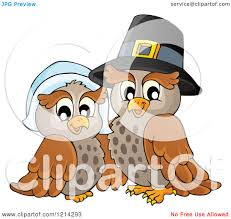 thanksgiving pilgrams clipart of an owl thanksgiving pilgrim couple royalty free