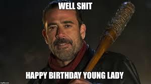 Walking Dead Happy Birthday Meme - walking dead negan blank template imgflip