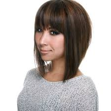 how to cut hair so it stacks stack with horizontal bang and highlights hair pinterest