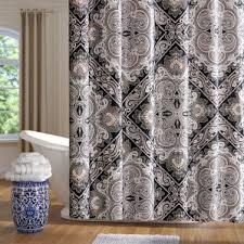 black shower curtains you u0027ll love wayfair