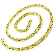 byzantine gold necklace images 14k yellow gold 5 5mm hollow byzantine box link necklace chain 20 jpg