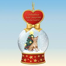 chihuahua snow globe ornaments the danbury mint