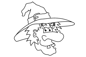 pics photos funny witch face coloring page within witch coloring