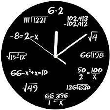 Wall Clocks Amazon Com Decodyne Math Clock Discontinued By Manufacturer