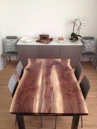 Walnut Dining Room Set Terrific Reclaimed Black Walnut Live Edge Dining Table Modern Of