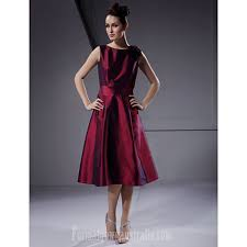 plus size burgundy bridesmaid dresses knee length taffeta bridesmaid dress burgundy plus sizes